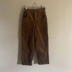 Zara Women   Corduroy High Waisted Pants